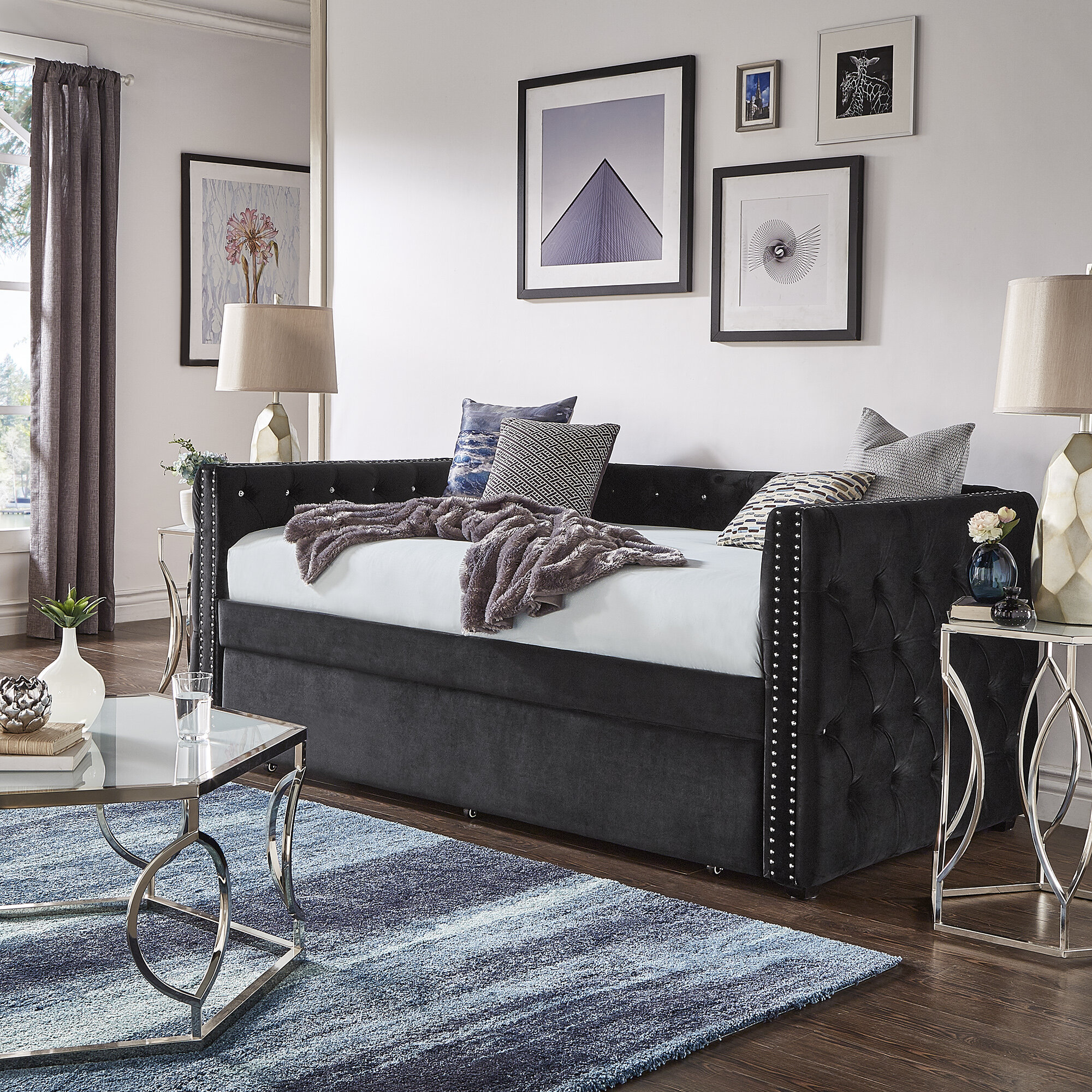 Kingstown Home Ghislain Twin Daybed With Trundle Wayfair