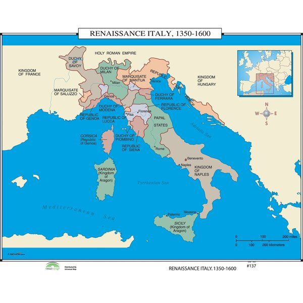 Universal map world history wall maps renaissance italy universal map world history wall maps renaissance italy reviews wayfair gumiabroncs Gallery