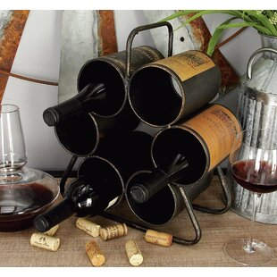 Cowger 6 Bottle Tabletop Wine Rack