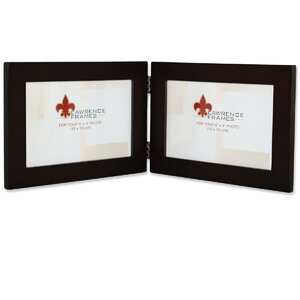 wood hinged double picture frame - Double Picture Frame