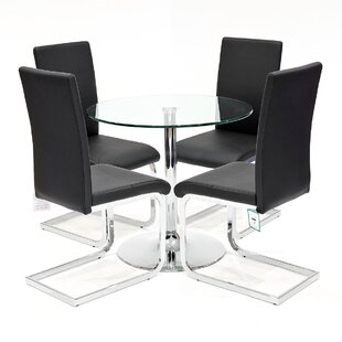 Carnot Dining Set With 4 Chairs By Metro Lane