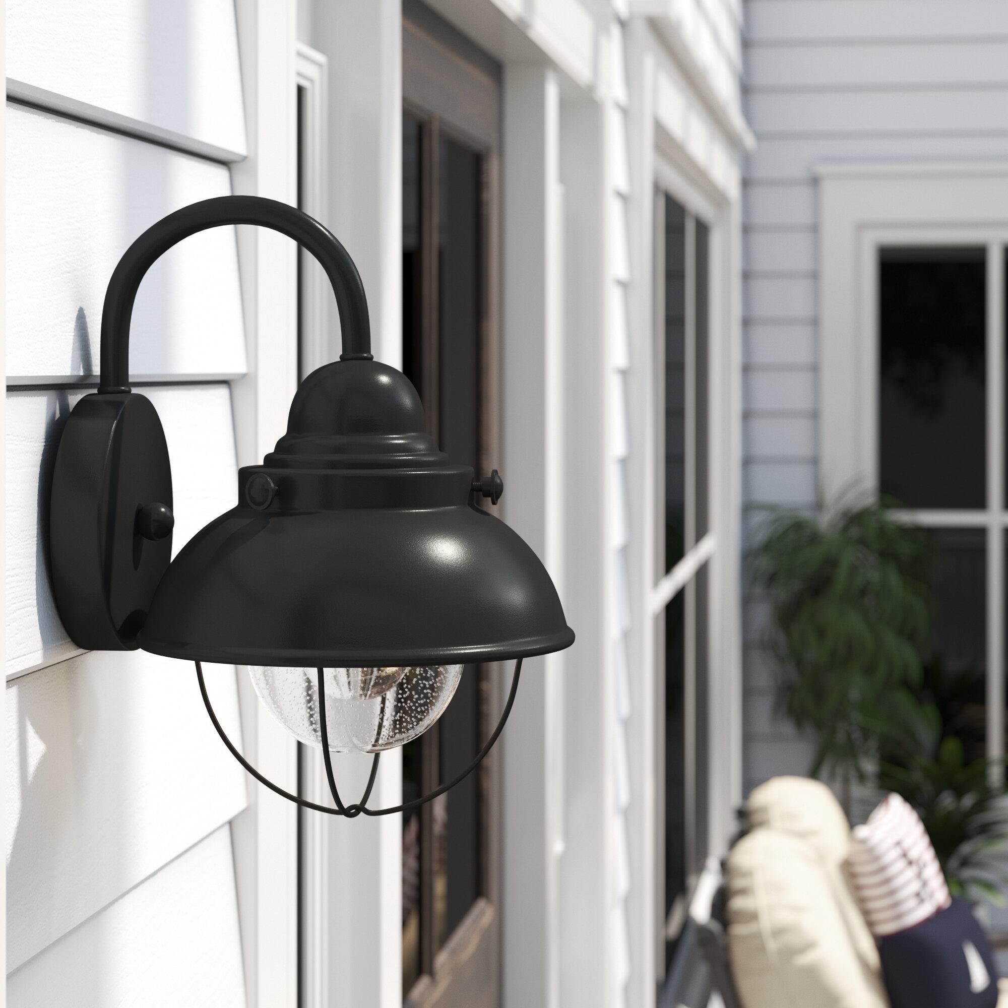 Beachcrest Home Corbel 1-Light Outdoor Barn Light & Reviews | Wayfair