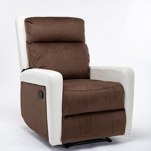 Latitude Run Cora Rose Faux Leather Manual Recliner Best Quality