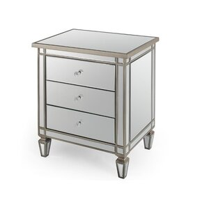 Brookstead 3 Drawer Night Stand by House of Hampton