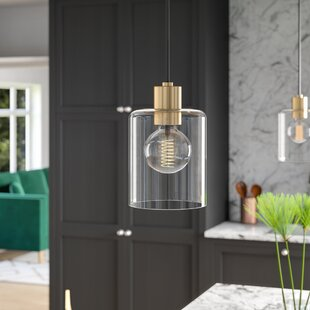 Kearse 1-Light Cylinder Pendant by Mercury Row