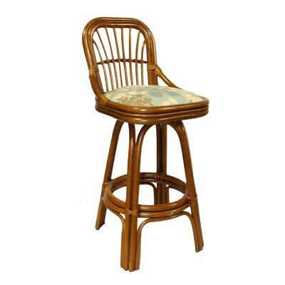 Marvelous Amarillo 30 Swivel Bar Stool Boca Rattan Feature With Arms Pabps2019 Chair Design Images Pabps2019Com
