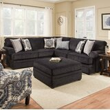 Dorothy 145 Symmetrical Sectional with Ottoman by Darby Home Co