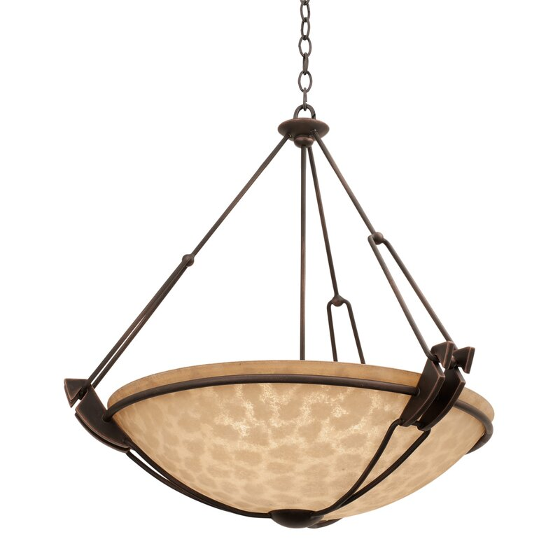 Kalco Grande 5 Light Unique Statement Bowl Pendant Wayfair