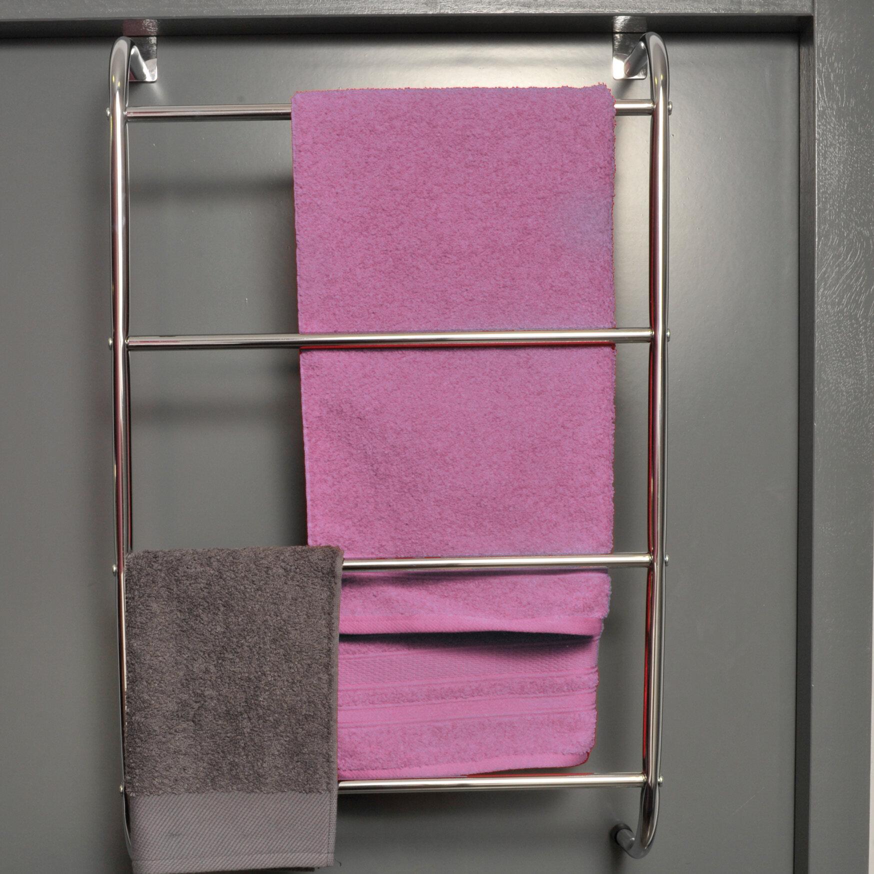 Evideco Four Bar Over The Door Towel Rack U0026 Reviews | Wayfair