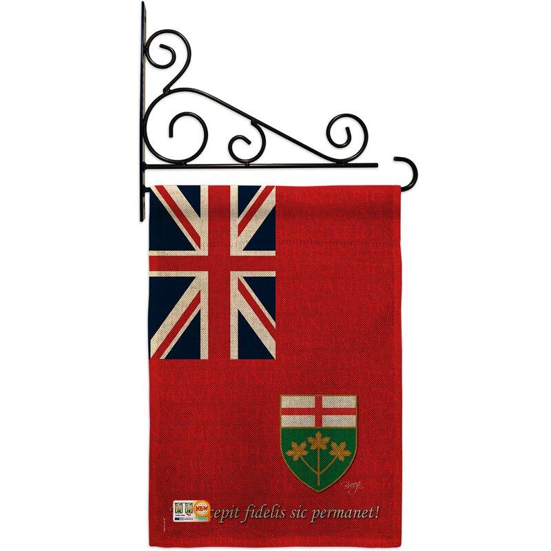Breeze Decor Ontario Of The World Canada Provinces 2 Sided Burlap 19 X 13 In Flag Set Wayfair
