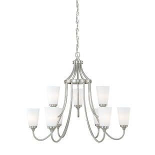 Federico 9-Light Shaded Chandelier by Charlton Home