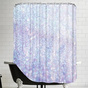Silver Style Polyester Single Shower Curtain