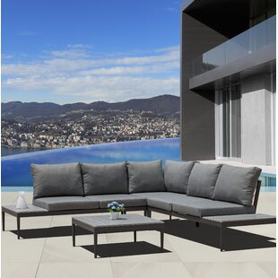 Lucky 2 Piece Sectional Seating Group with Cushions