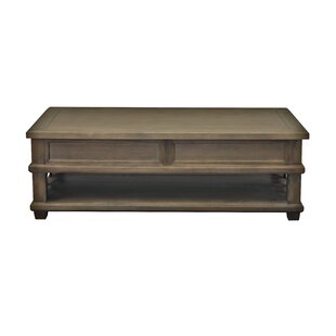 Osborn Floor Shelf Coffee Table with Storage