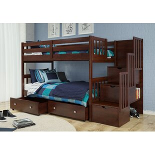 Basting Twin Over Twin Bunk Bed with Drawers