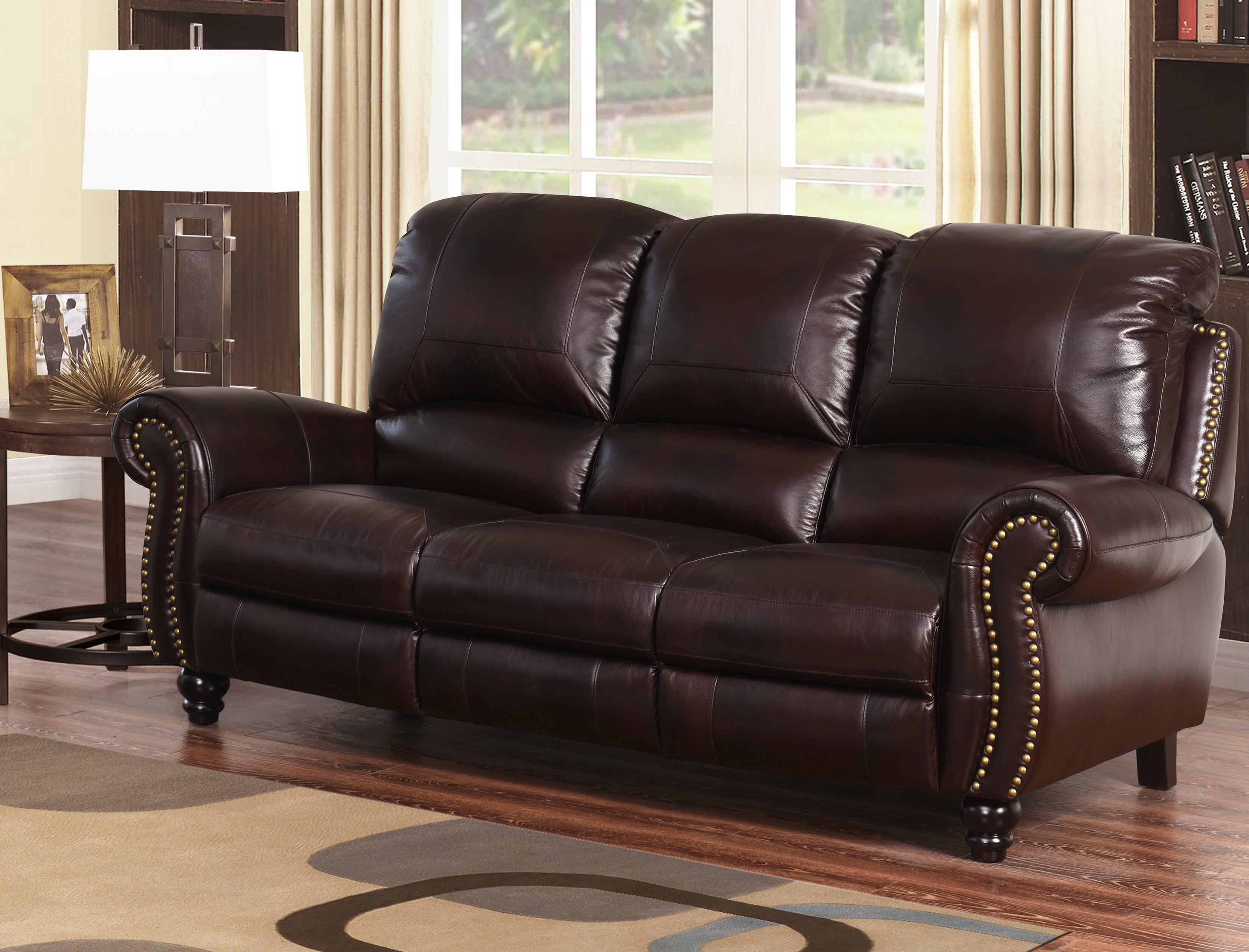 Peachy Tanguay Leather Reclining Sofa Short Links Chair Design For Home Short Linksinfo