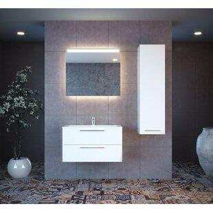 Nico 39 Wall-Mounted Single Bathroom Vanity Set with Mirror ByOrren Ellis