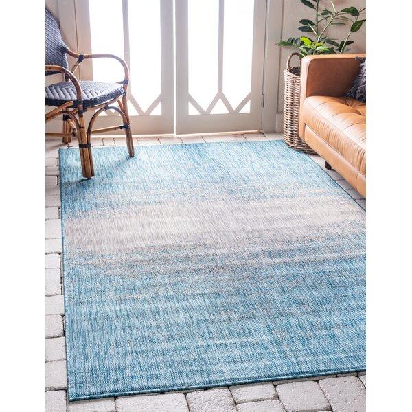 Wrought Studio Datto Abstract Blue Gray Indoor Outdoor Area Rug Reviews Wayfair