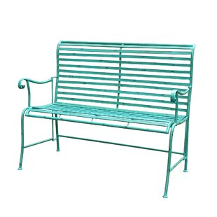 Cheriton Distressed Iron Garden Bench