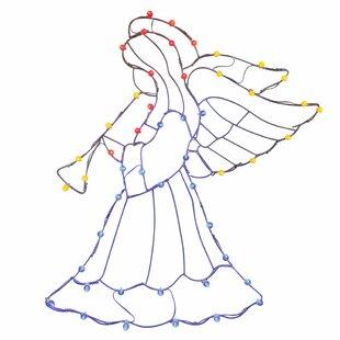 Vickerman Silhouettes Angel n' Horn C7 Wire Motif