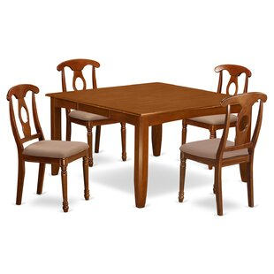 Wooden Importers Parfait 5 Piece Extendable Dining Set