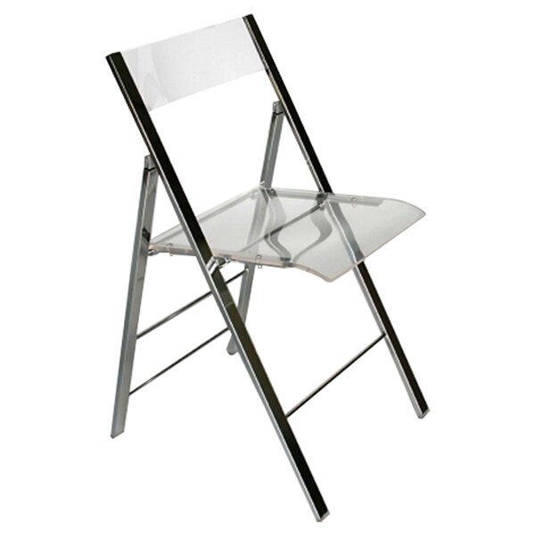 Superior Ebern Designs Spicer Acrylic Foldable Side Chair U0026 Reviews | Wayfair