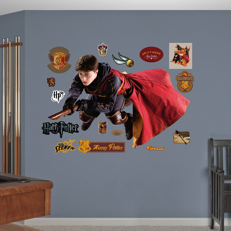 fathead harry potter quidditch seeker peel and stick wall decal