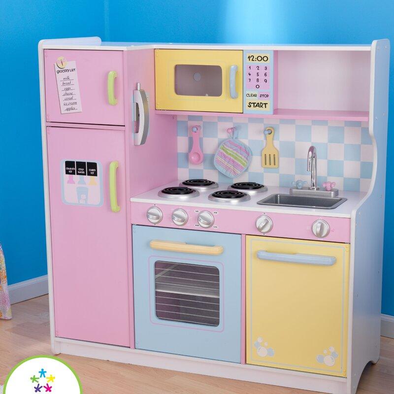 Kidkraft Kitchen Blue kidkraft pastel kitchen & reviews | wayfair