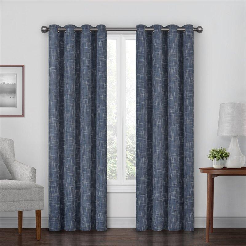 Mercury Row Carly Eclipse Max Blackout Grommet Single Curtain Panel Reviews Wayfair
