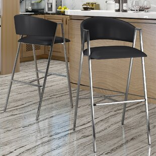 Ansaldi Modern 28 Bar Stool (Set of 2) Orren Ellis