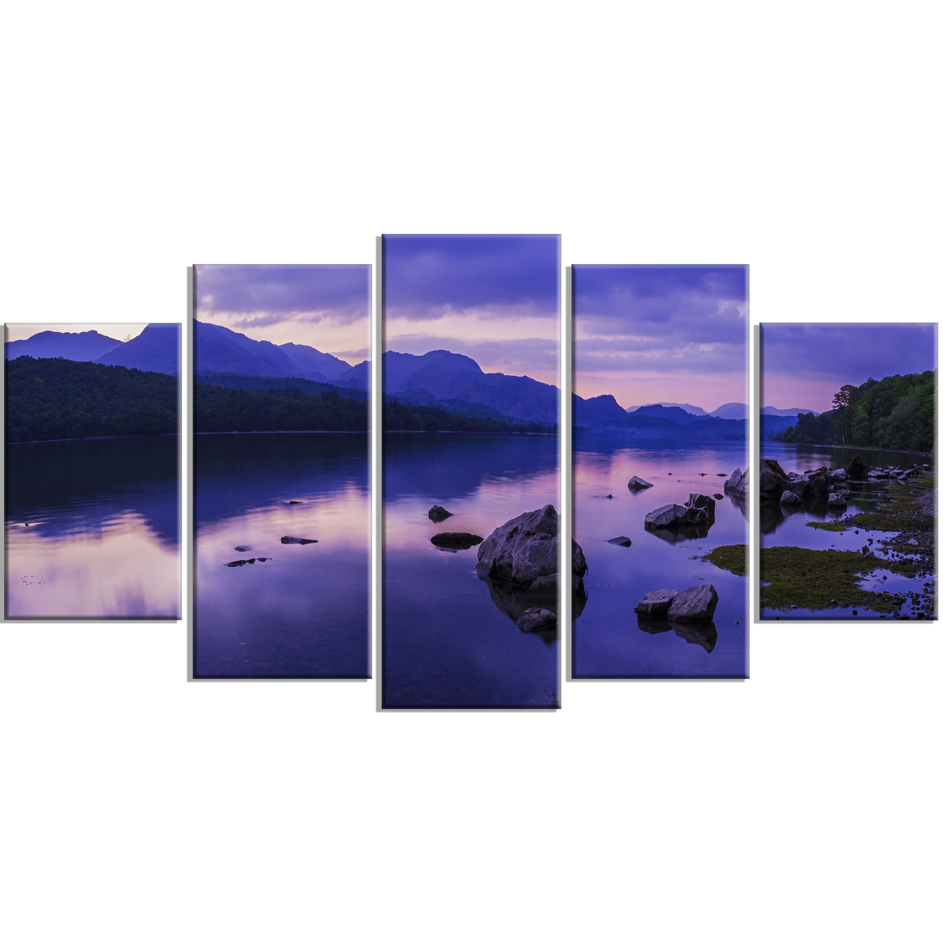 Designart Coniston Water In The Lake District 5 Piece Photographic Print On Wrapped Canvas Set Wayfair