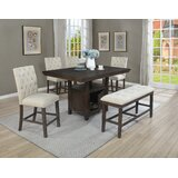 Joines 6 - Piece Counter Height Dining Set by Rosalind Wheeler