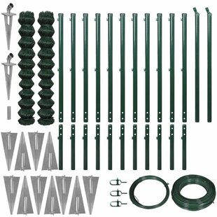 Erlandson 25m X 1.97m Chain Link With Spike Anchors Fence Set By Sol 72 Outdoor