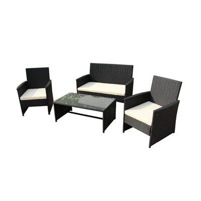Sensational Lampkins 4 Piece Rattan Sofa Set With Cushions Charlton Home Alphanode Cool Chair Designs And Ideas Alphanodeonline