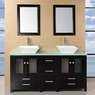 Jackson Heights 61 Double Bathroom Vanity Set with Mirror by dCOR design