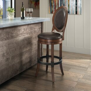 Hosey Adjustable Height Swivel Bar Stool by Fleur De Lis Living