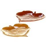 Layla 3-D Leaf Platters (Set of 2)