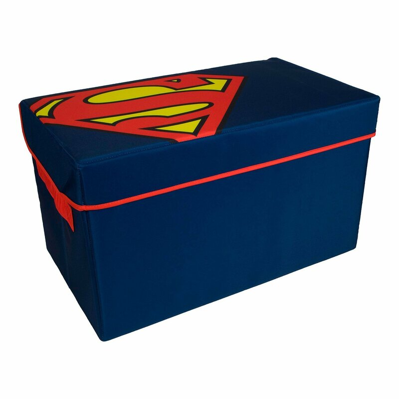 9575aa194 Everything Mary DC Comics Superman Collapsible Kids Toy Storage Chest -  Flip-Top Toy Organizer Bin for Closet, Bedroom Box, Playroom Chest &  Reviews | ...