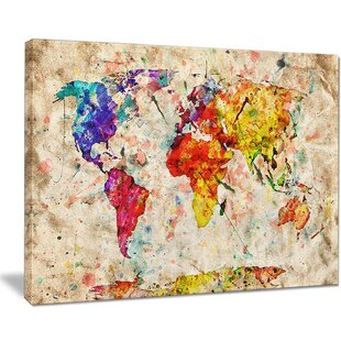 Vintage World Map Tapestry Wayfair - Vintage looking world map