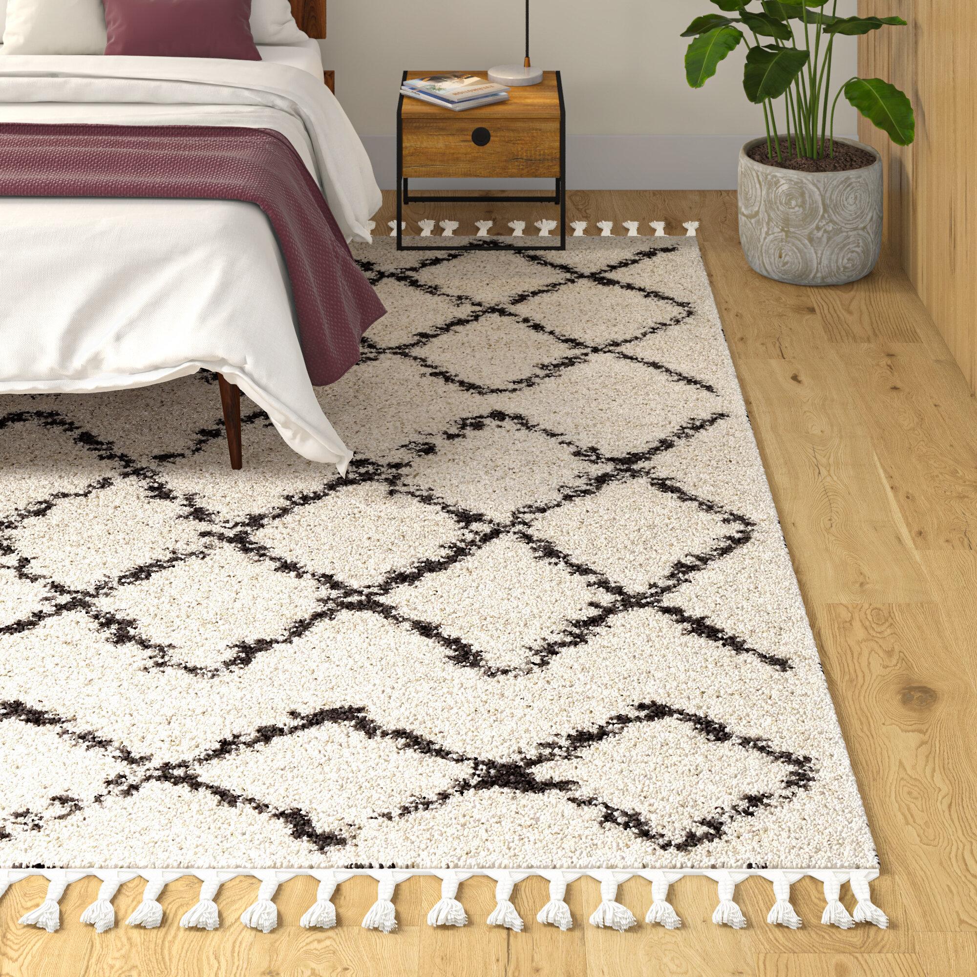 Allmodern Margaret Geometric Charcoal Beige Area Rug Reviews Wayfair
