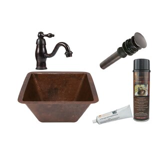 Best Reviews Metal Square Undermount Bathroom Sink with Faucet ByPremier Copper Products