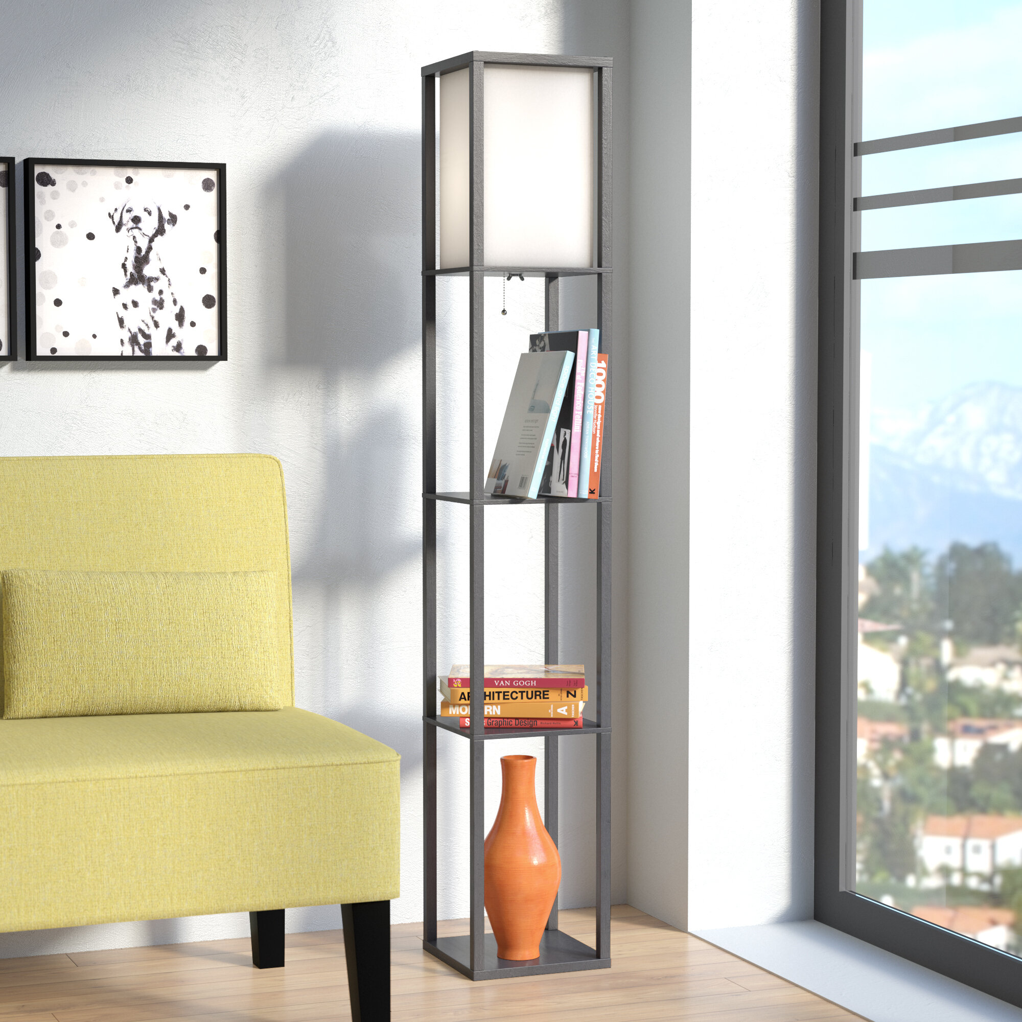 Zipcode design stefanie 628 column floor lamp reviews wayfair aloadofball Images