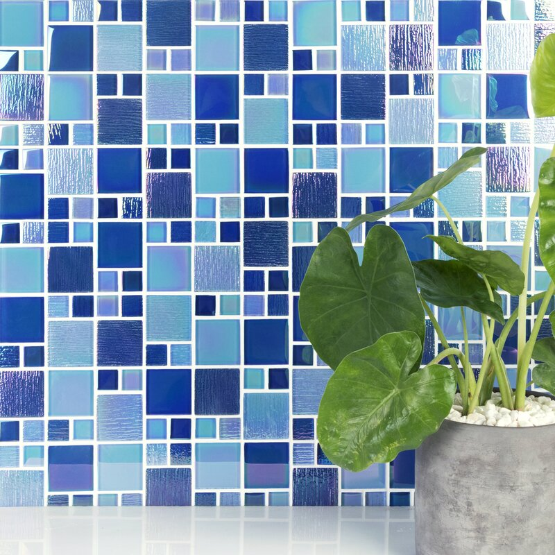 reflections iridescent glass versailles mosaic tile