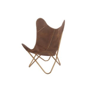 Bloomsbury Market Maultsby Cocoa Riveted Lounge Chair