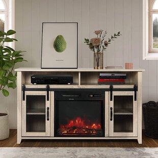 Runell TV Stand for TVs up to 55 with Fireplace Included by Gracie Oaks