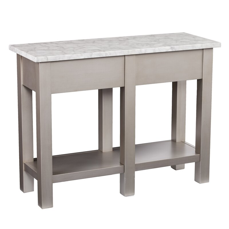 Great Burket Faux Marble Console Table