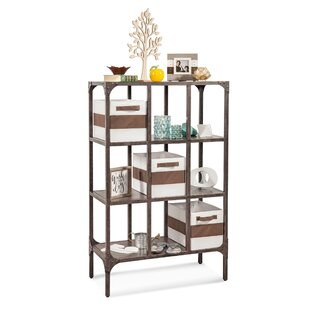Clemence Industrial Repository Cube unit Bookcase Gracie Oaks