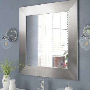 Compare prices Wide Square Wall Mirror ByWade Logan