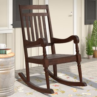 wood patio rocking chairs gliders you ll love wayfair