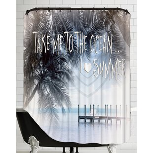 Text Art I Love Summer Single Shower Curtain